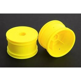 Jantes arrière jaune