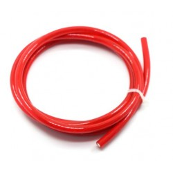 Fil transparent rouge 1m 12AWG